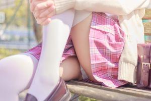 Tsubaki Album Vol 001 Pink Sailor suit & White knee socks